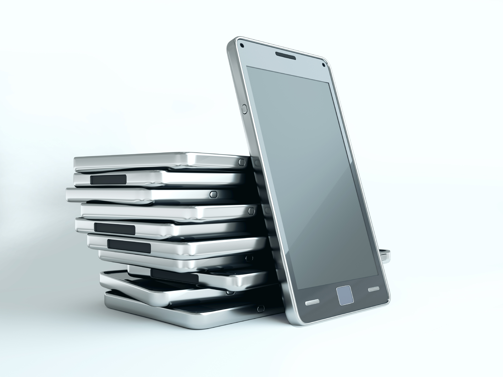 Phones in a stack