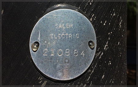 Salem electric pole tag
